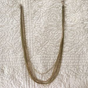 Jewelry - Multi-length Gold Chain Necklace